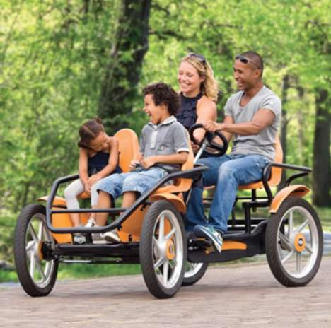 Family-Friendly Quadracycles - The Touring Quadracycle is a Four-Wheel Bike Ideal for Families