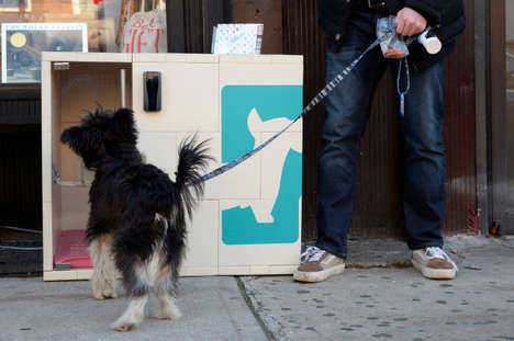 Pooch-Parking Services - These Sidewalk Dog Kennels Allow Consumers to Temporarily Park Their Dog