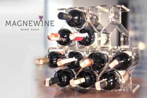 'Magnewine' is a Magnetic Wine Rack that Can Contain Infinite Bottles