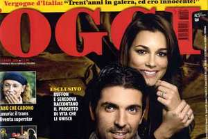 Gigi Buffon and Family on Oggi Magazine
