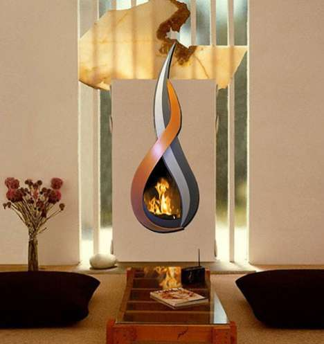 17 Futuristic Fireplaces