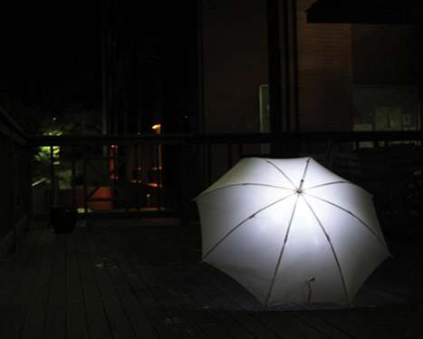 Illuminated LED Umbrellas