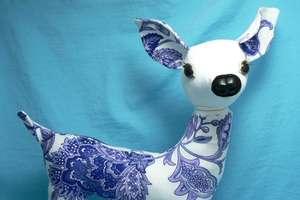 Beautiful Patterned Stuffed Animals With Bambi Lashes