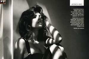 Jessica Biel's Sultry Shadow Poses for GQ