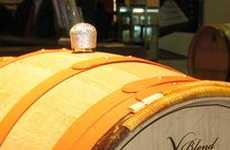 Bedazzled Wine Barrels - Radoux Leather 'X-Blend' Features Swarovski Stopper