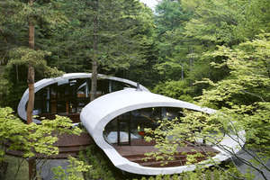 Kotaro Ide's Seashell House Is Nestled in the Forests of Japan