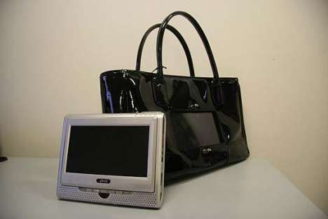 Purses Outfitted with Televisions