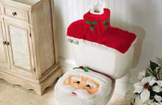 Santa Claus Toilets - Christmas Bathroom Decorations