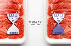 Hourglass-Inspired Freshness Labels