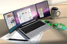 Extended Laptop Screens - Apple triBook Has Fold-Out Panels to Boost Viewing Area