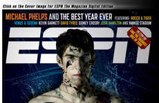 Digital Tattoo Covers - Michael Phelps in ESPN Magazine