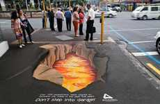 3D Street Art for Pedestrian Safety - Auckland City Council PSA Gets Creative for Awareness