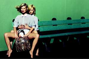 Longchamp Goes GirlxGirl With Kate Moss & Pivovarova