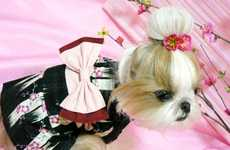 Geisha Dogs - Canines Dressed In Traditional Japanese Silk Robes