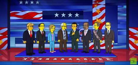 Animated Political Debates - The Simpsons Poke Fun at Presidential Candidates in This Quirky Video