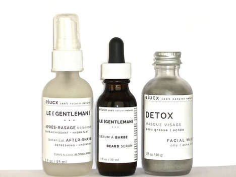 Masculine Skincare Kits - The Le Gentleman Skincare Set by ELUCX Features Natural Essentials