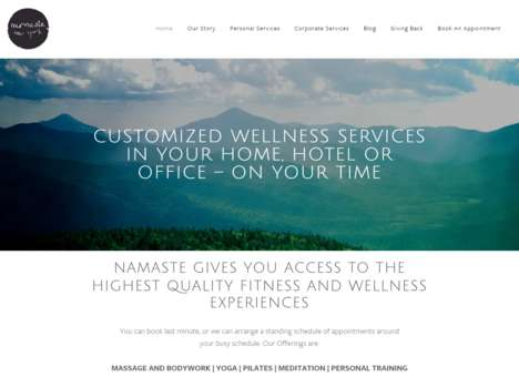 On-Demand Wellness Services - 'Namaste New York' Brings Massages, Yoga, Mediation to Your Home