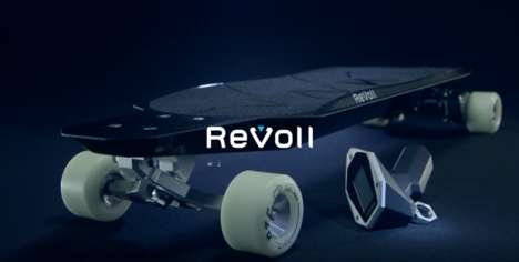 Electric Carbon Skateboards - The Revoll C1N Electric Longboard Provides Rechargeable Transportation