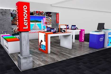 Retail Technology Lounges - This Lenovo Retail Location Encourages Shoppers to Experience Products