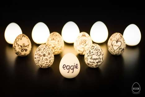 Portable Egg Lights - This Handheld Lamp Called 'Eggie' is Water Resistant and Rechargeable