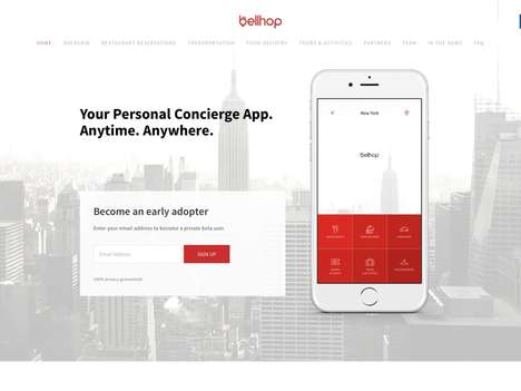On-Demand Concierge Apps - The Bellhop App Functions as a Personal Concierge