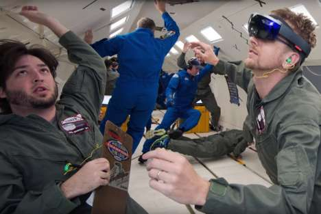 Assistive Astronaut Headsets - The NASA x Microsoft Hololens Sidekick Brings Ease to Space Tasks