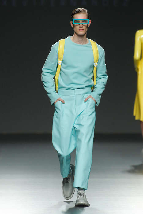 Futuristic New Wave Apparel - The Latest Xevi Fernández Collection Features Pastel Clothing Staples