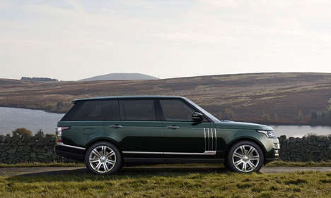 Luxury Hunting Vehicles - The Range Rover Holland & Holland Features an Integrated Gun Compartment