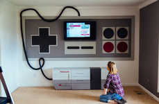 Retro Gamer Entertainment Systems - This DIY Nintendo Home Theater System Looks Like a Real Game