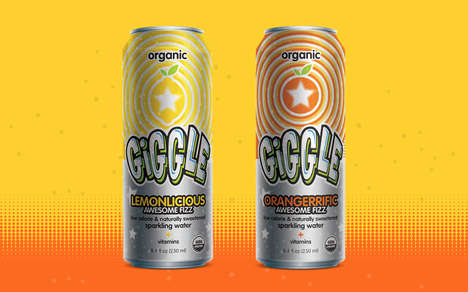 Kid-Friendly Sparkling Waters - The Giggle Line from Soul Fizz Serves as an Alternative to Soda