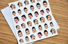 Reality Star Nail Stickers - JamJarShop's Kim Kardashian Nail Art Celebrates the Star's Iconic Cry