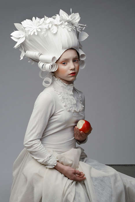 Classical Paper Wigs - These Detailed Headpieces are Handcrafted by Asya Kozina