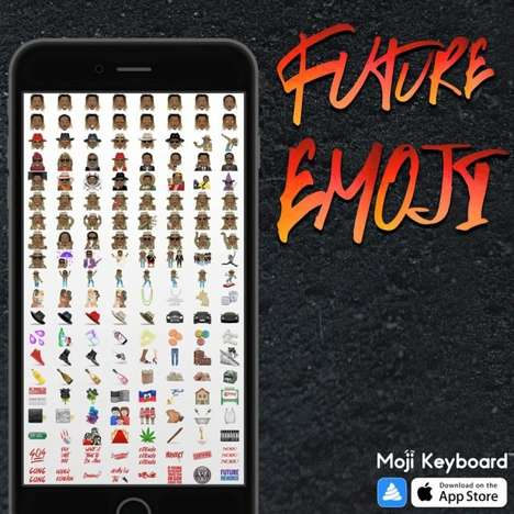 Rap Star Emojis - This Rapper Now Has His Own Set of Emojis Via Moji Keyboard