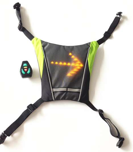 Indicating Biker Vests - The Bikeman LED Jacket Lights Up to Indicate a Cyclist