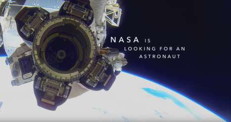 Astronaut Networking Ads - The First-Ever LinkedIn Ad for TV Announces a Search for an Astronaut