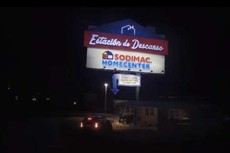 Rest Stop Billboards - Sodimac's Ad Roadside Promotes a Garage for Tired Drivers to Sleep for Free