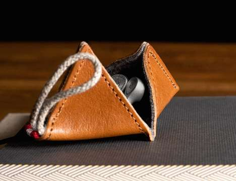 Luxury Headphone Cases - The Hard Graft 'Point' Earphone Case Ensures Equipment is Kept Safe