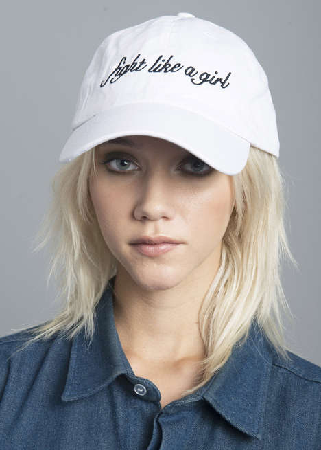Feminist Slogan Caps - Stay Cute's Fight Like a Girl Baseball Cap Promotes Female Empowerment
