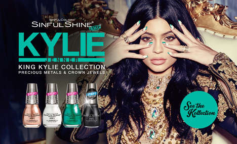 Celebrity-Designed Nail Laquers - The 'King Kylie x Sinful Shine' Collection Features Playful Shades