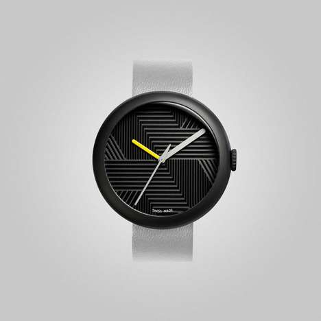 Simplistic Numberless Watches - The Hach Watch Relies on Your Ability to Read Time