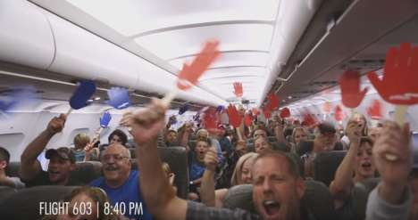 Democratic Airline Stunts - JetBlue's 'Reach Across the Aisle' Encourages People to Come Together