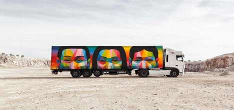 Mobile Art Exhibits - The 'Truck Art Project' Uses Trucks as a Canvas for Beautiful Artwork