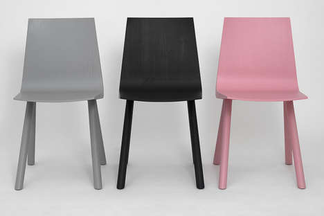 Solid Shell Seats - The Cresta Chairs are Made Using Raw Ash Wood to Achieve an Organic Design