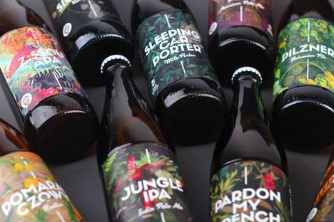 Tropical Craft Brew Branding - Inne Beczki Ales & Lagers is a Craft Brewery in Poland