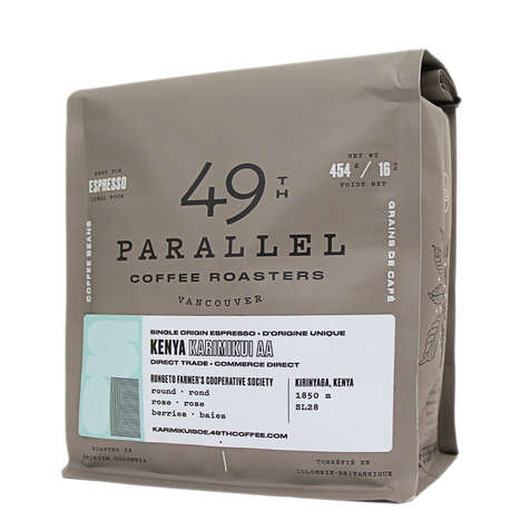 Border-Inspired Coffee Rebrands - 49th Parallel Coffee Roasters is Based in Vancouver, Canada