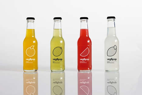 Vegan Soda Concepts - veg&pop is a Vegan Soda Concept Created for a Student Project