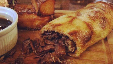 British Burrito Menus - The Yorkshire Pudding Wrap Sandwiches Put a Twist on Traditional Pub Food