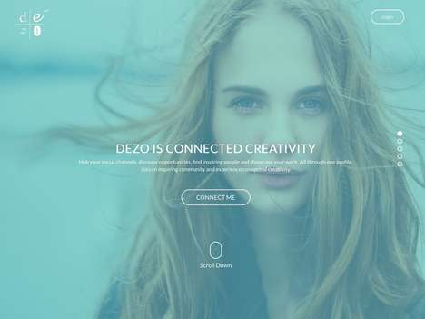 Creativity-Showcasing Profile Hubs - Dezo Connects All Your Artistic Social Accounts in One Place