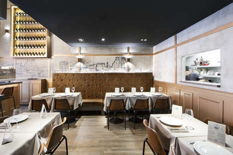 Parisian Dining Concepts - This Barcelona Restaurant Pays Homage to Parisian Eateries