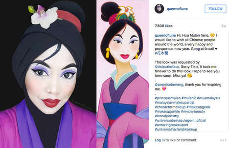 Clever Hijab Makeovers - Instagrammer Queen of Luna Transforms into Pop Culture Characters